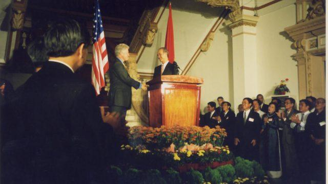 Lễ đón tổng thống Bill Clinton