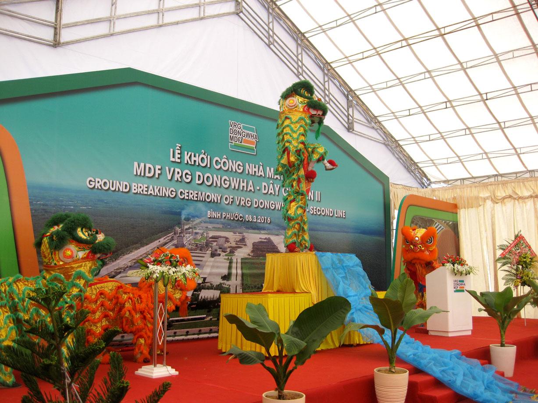 Lễ Khởi công nhà máy gỗ MDF DONGWHA