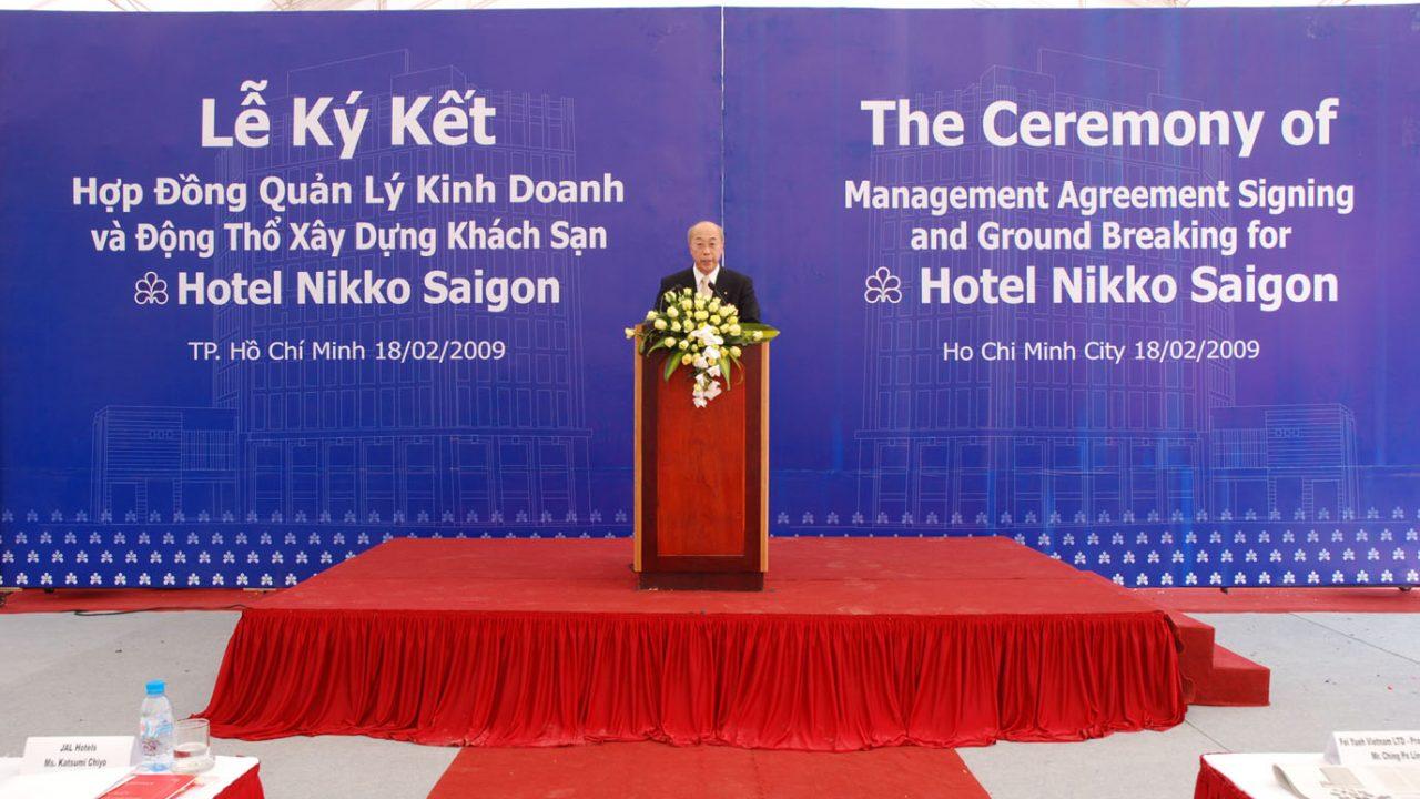 Lễ Động thổ xây dựng khách sạn Nikko Saigon